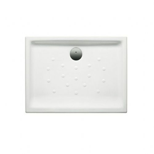 Roca Malta Anti-Slip Rectangular Shower Tray - 1000mm x 700mm - White